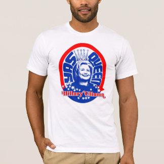 T-shirt La Reine Hillary rouge, blanche, et de Yass !