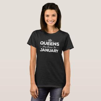 T-shirt La Reine sont née en janvier