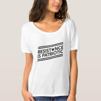 T-shirt La résistance est pièce en t Slouchy patriotique