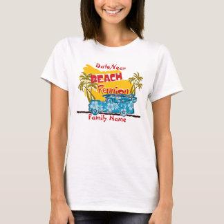 T-shirt La Réunion de famille de plage d'amusement d'été