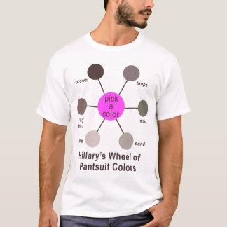 T-shirt La roue de Hillary de couleurs de Pantsuit