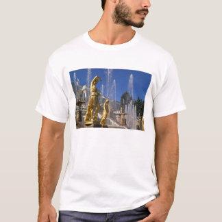 T-shirt La Russie, St Petersburg, statues d'or dans
