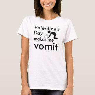 T-shirt La Saint-Valentin m'incite à vomir