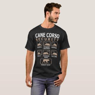 T-shirt La sécurité de chien de Corso de canne choie le
