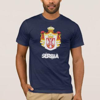 T-shirt La Serbie avec le manteau des bras