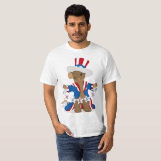 T-shirt La souris patriotique aime célébrer la liberté du