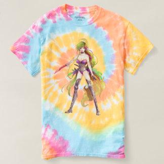 T-shirt La spirale en pastel de femme de guerrier de Manga