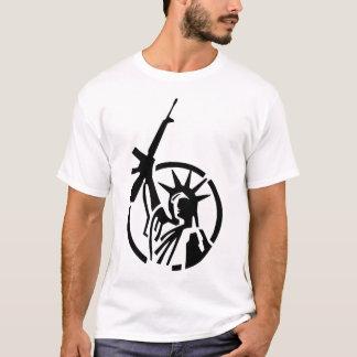 T-shirt La statue de la liberté tenant un AR-15 se lèvent