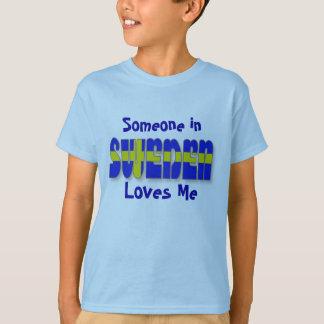 T-shirt La Suède dans des tee - shirts de lettrage de