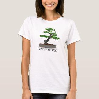 T-shirt La taille importe chemise de jardinage de bonsaïs