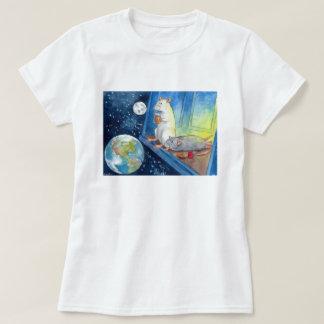 T-shirt La tasse cosmique de Ratties de thé pour des dames
