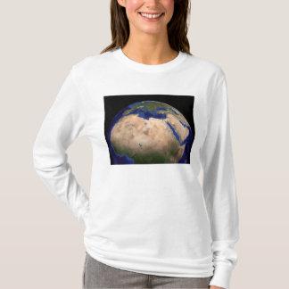 T-shirt La terre de marbre bleue 3 de prochaine génération