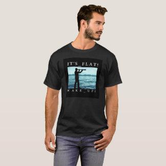 T-shirt La terre est plate - réveillez-vous