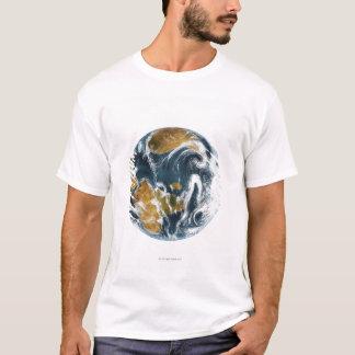 T-shirt La terre et nuages de planète vus de l'espace