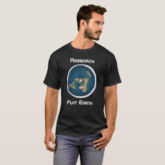 T-shirt La terre plate 1 de recherches