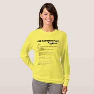T-shirt La terre plate simple et plate