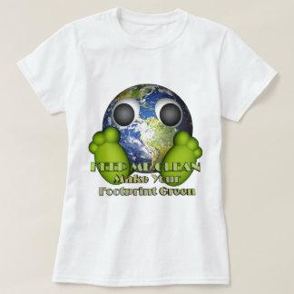 T-shirt La terre propre de la terre verte
