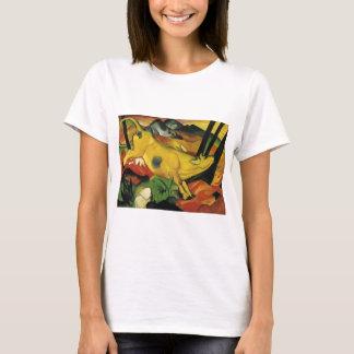 T-shirt La vache jaune par Franz Marc