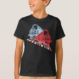 T-shirt La vapeur de locomotives forme la locomotion