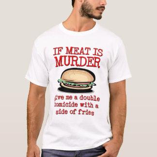 T-shirt La viande est humour drôle de chemise de meurtre