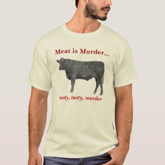 T-shirt La viande est meurtre - Angus