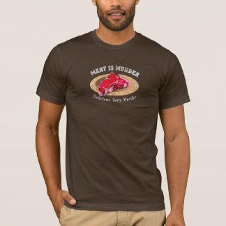 T-shirt La viande est meurtre - délicieux, meurtre