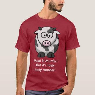 T-shirt La viande est meurtre ! Mais c'est meurtre