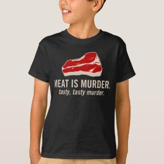 T-shirt La viande est meurtre, meurtre savoureux