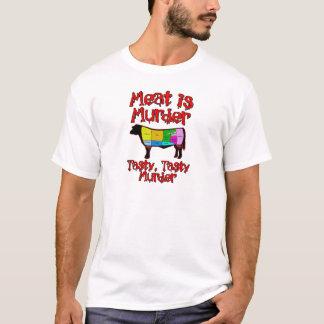 T-shirt La viande est meurtre. Meurtre savoureux et