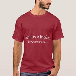 T-shirt La viande est meurtre savoureux savoureux de
