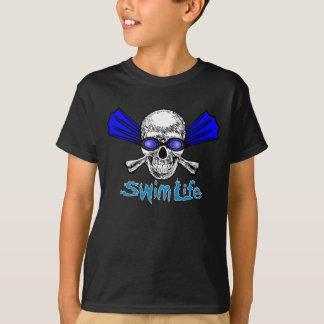 T-shirt La vie de bain badine la pièce en t foncée