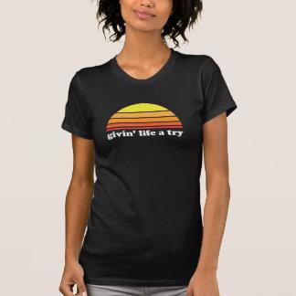 T-shirt La vie de Givin un essai - obscurité
