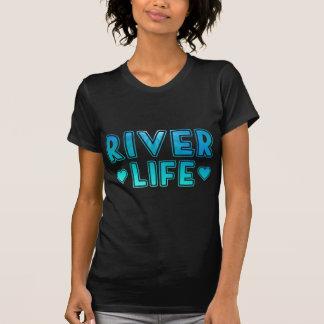 T-shirt La vie de rivière avec la texture sous-marine