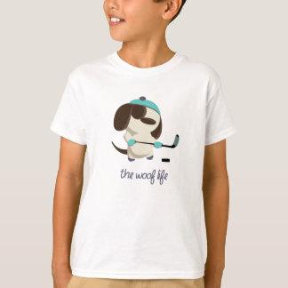 T-shirt La vie de Woof - hockey