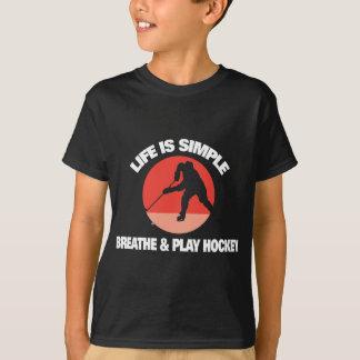 T-shirt La vie d'hockey est simple