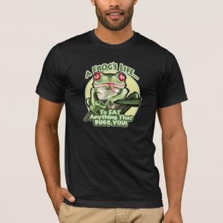T-shirt La vie d'une grenouille - pour manger tout ce qui