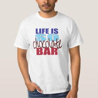 T-shirt La vie est AINSI pièce en t de barre de chocolat