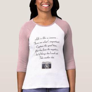 T-shirt La vie est comme un appareil-photo