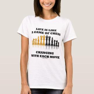 T-shirt La vie est comme une partie d'échecs (l'attitude