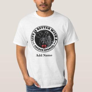 T-shirt La vie est meilleure avec un cocker personnalisé