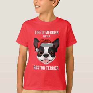 T-shirt La vie est plus joyeuse avec Boston Terrier