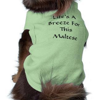 T-shirt La vie est une brise pour ceci maltais