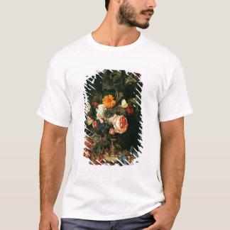 T-shirt La vie toujours avec des pavots et des roses