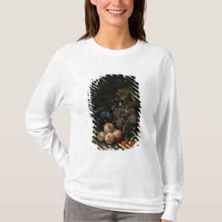 T-shirt La vie toujours avec le fruit, le feuillage et les