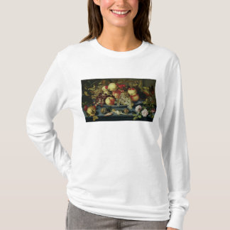 T-shirt La vie toujours avec le fruit, les fleurs et les