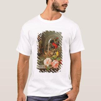 T-shirt La vie toujours avec l'oiseau de ronflement dans