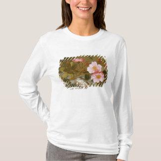 T-shirt La vie toujours dépeignant des fleurs