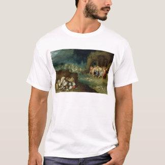 T-shirt La vie toujours des coquilles avec le festin des