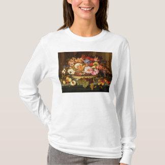T-shirt La vie toujours du fruit et d'un panier des fleurs