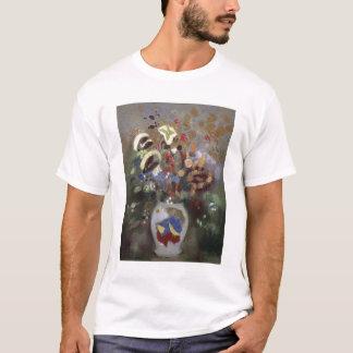 T-shirt La vie toujours d'un vase de fleurs (en pastel sur